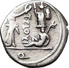 Roman Republic 98BC Jupiter Victory Trophy Ancient Quinarius Silver Coin i55503