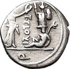 Roman Republic 98BC Jupiter Victory Trophy Ancient Quinarius Silver Coin i55503