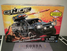 GI JOE ~ Retaliation NINJA COMBAT CRUISER W/ NIGHT FOX ~ 100% complete set cobra