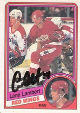 LANE LAMBERT RED WINGS AUTOGRAPH AUTO 84-85 O-PEE-CHEE OPC #57 *22522