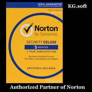 Norton Security Deluxe for 5-device 1-year - product key code | Global use