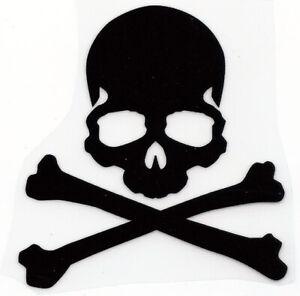 """3X3"""" Poison symbol Skull glitter IRON On TRANSFER Heat Vinyl skeleton bones"""