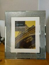LARGE SILVER GLITTER FREE STANDING PICTURE FRAME 8X6 INCH PHOTO New No Tags