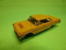 LESNEY MATCHBOX 20 CHEVROLET IMPALA - TAXI - YELLOW  1:43 - GOOD CONDITION