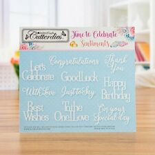Kanban CELEBRATION SENTIMENT Cutterdies Set of 10 Ornate Metal Die Cuts NEW