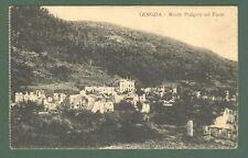 Friuli. MONTE PODGORA COL PAESE, Gorizia. Panorama. Cartolina d'epoca non viagg.