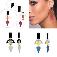1 Pair Women Lady Hook Stud Ear Drop Dangle Diamond Acrylic Candy Color Earrings