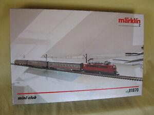 Märklin 81870 Startpackung 230 Volt Intercity - Personenzug   Spur Z