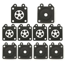 10Pcs Cloth Rubber Black Metering Diaphragm Replaces for Walbro 95-526 1 x 1.2''
