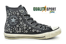 Converse CTAS Distressed Hi Nero Borchie Pelle Scarpe Donna Sneakers 158968C