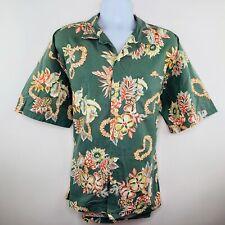 Polo Sport Mens Shirt Size 2XL Green Floral Tropical Aloho SS Buttonup