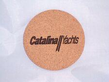 Catalina Sailboat Drink Coasters Set of 4 - CORK, sail, boater,sailing, beer