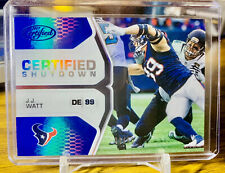 2017 CERTIFIED J.J. Watt BLUE PRIZM REFRACTOR #/50 Houston Texans