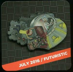 Loot Crate DX Exclusive Rick and Morty Pin July 2016 Futuristic