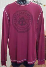 Ballast Point Brewing Company Burgundy Thermal Long Sleeve Shirt Sz 2Xl