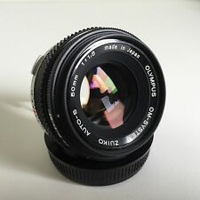 Olympus OM-sistema Zuiko Auto-F1.8 50mm S focale fissa-OTTIMO