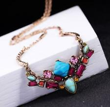 Sets Jewelry Pendant Betsy Johnson Colorful crystal Turquoise necklace earring