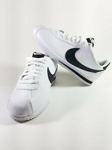 Women's Nike Classic Cortez Shoes White Black Size 8.5 807471 101