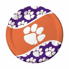 Clemson Tigers Paper Plate Pack of 8 New In Plastic 8 3/4 Inches NCAA ACC