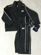 NWT 24 Months NIKE Gray Jacket & Pants With White Stripe Trim Athletic 2pc Set
