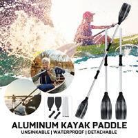 2M Adjustable 1 Pairs Aluminum Alloy Detachable Split Shaft Kayak Oars Paddles