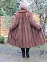 WOMEN M L MINK NERZ VINTAGE VISON норка Fur Coat Ladies Top Condition D4273