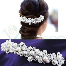 Acconciatura capelli tiara cristalli perle accessorio sposa cerimonia matrimonio