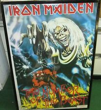 IRON MAIDEN POSTER DEATH LIMITED PRODUCTION NEW NUMBER OF THE BEAST HEAVY METAL
