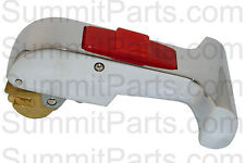 """T"" STYLE RED BUTTON CHROME DOOR HANDLE FOR IPSO WASHERS - 217/00051/00"