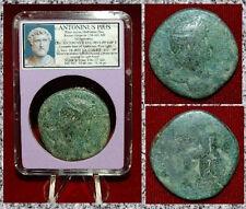 Ancient Roman Empire Coin Of ANTONINUS PIUS Securitas Seated Large Sestertius