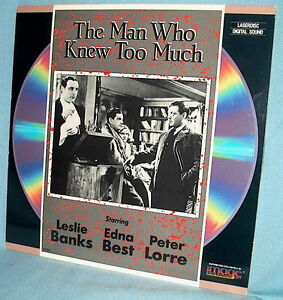 LD laserdisc ALFRED HITCHOCK'S 1934 THE MAN WHO KNEW TOO MUCH Leslie Banks