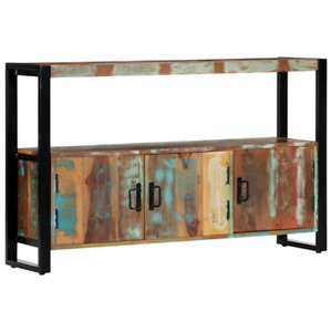 Solid Reclaimed Wood Sideboard 120x30x75cm