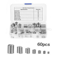 60PCS//Lot Stainless Steel Thread Repair Kit M3 M4 M5 M6 M8 M10 M12 Tools Accessory