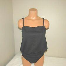 Free People Cotton Spandex Bodysuit Top Shirt Black LARGE NWT