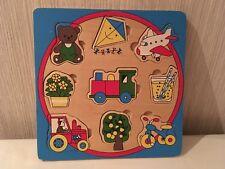 Puzzle bois à encastrer - 9 pièces jouets - à partir 18 mois