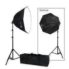 "Photography Studio 24"" Octagon Speedlight Softbox EZ Setup Flash Stand Kit"
