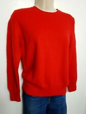 M&S 100% PURE CASHMERE JUMPER SWEATER M UK 12-14 RED #03/31