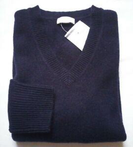Brookshire P&C Damen Pullover Gr.S Lammwolle 80% d.-blau V-neck UVP39,99€NEU