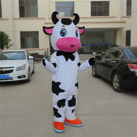 Halloween Cow Mascot Costume Animal Parade Party Dress Outfit Adult Suit Cosplay