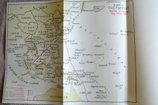 FAR EAST BATTLES POSSIBLE STRATEGIES 1944 ORIGINAL WAR MAP INC PACIFIC OCEAN