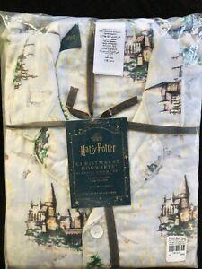 Pottery Barn Teen Harry Potter Christmas Hogwarts Size Small Flannel Pajama Set