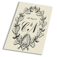Personalised Monogram - Vintage Art Print Poster - A1 A2 A3 A4 A5