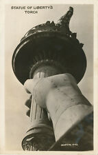 NYC NY * Statue of Liberty Torch ca. 1940 * Aaron Hill RPPC
