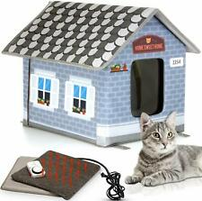 New listing Heated Outdoor Cat House Weatherproof Cat Small Dog Warm Pet Shelter Carrier New