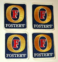 4 Vintage Small Fosters Brewing Beer Distributor Cloth Patch 1980s NOS New