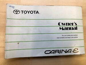 TOYOTA CARINA E OWNERS MANUAL / HANDBOOK 1993 1994 1995