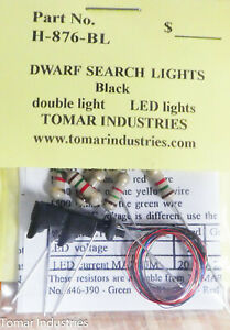 Tomar Industries HO #H-876BL Double Search Light w/black finish Tri Colored LED'