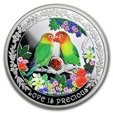 2017 Niue 1 oz Silver $2 Love is Precious Lovebirds - SKU #104530