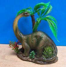 Dinosaur with Plants Aquarium Ornament Fish Tank Bowl Decoration Goldfish New