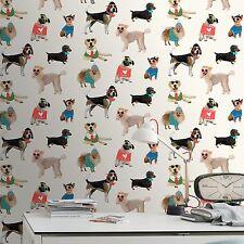 DOGS IN SUNGLASSES WALLPAPER - RASCH 273502 - NEW PUPPY ROOM DECOR
